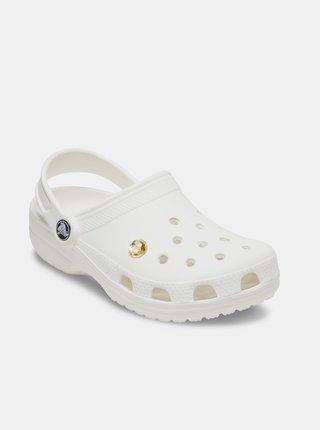 Ozdoba na topánky v zlatej farbe Crocs Sparkly Yellow Cirkle