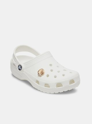 Ozdoba na topánky v zlatej farbe Crocs Gold Seashell