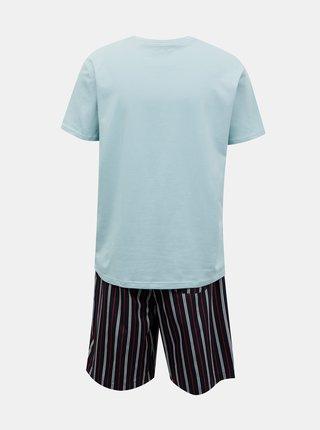 Tommy Hilfiger modré pánske pyžamo CN SS Short Woven