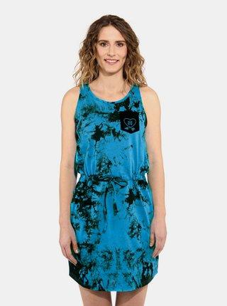 Horsefeathers ELLIS BLUE TIE DYE krátké letní šaty