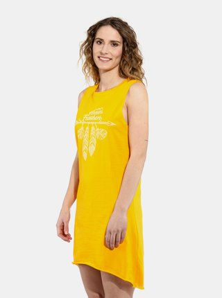 Horsefeathers KIM CITRUS krátké letní šaty - žlutá