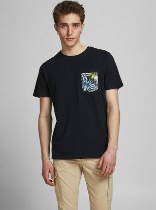 Čierne tričko s vreckom Jack & Jones Pock