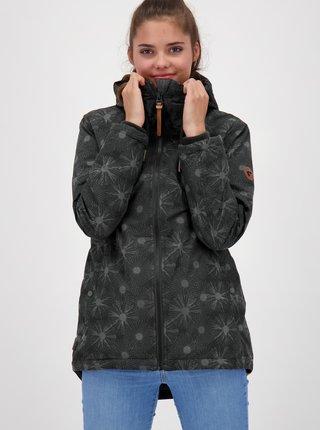 Černá dámská vzorovaná bunda Alife and Kickin
