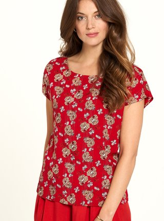 Červené květované tričko Tranquillo