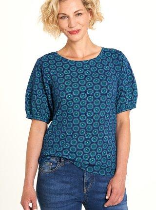 Modré vzorované tričko Tranquillo
