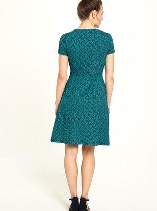 Zelené vzorované šaty Tranquillo