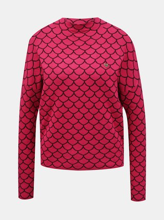 Růžový dámský vzorovaný svetr Blutsgeschwister Pink Shell