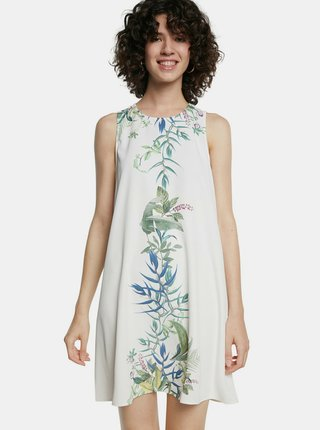 Desigual bílé šaty Vest Detroit