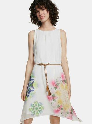 Desigual bílé šaty Vest Shen