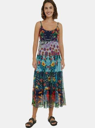 Desigual farebné letné midi šaty Vest Marnac