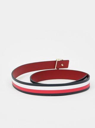 Modro-červený dámský pruhovaný oboustranný pásek Tommy Hilfiger