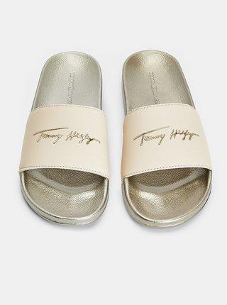 Dámské pantofle ve zlaté barvě Tommy Hilfiger