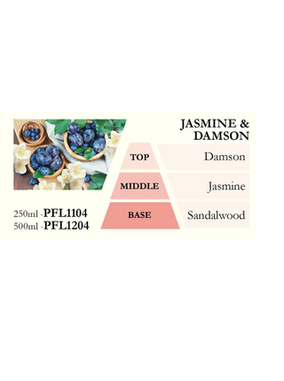 Náplň do katalytické lampy JASMINE & DAMSON (jasmín a švestka), 500 ml