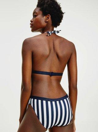 Tommy Hilfiger modro-bílý pruhovaný spodní díl plavek Classic Bikini