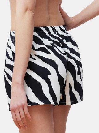 Čierno-biele dámske vzorované trenýrky Slippsy Black and White