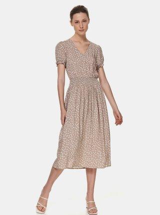 Béžové puntíkované šaty TOP SECRET