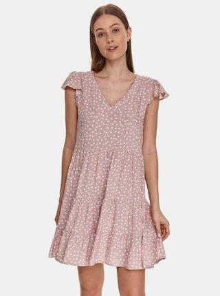 Růžové puntíkované šaty TOP SECRET
