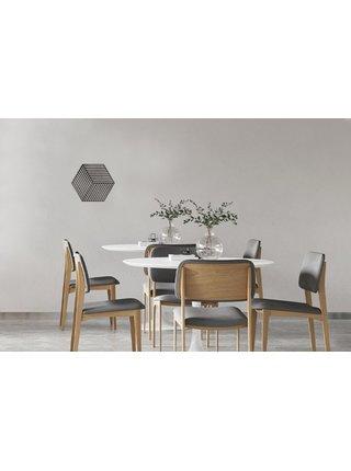 Dřevěná dekorace na zeď Cube Siluette