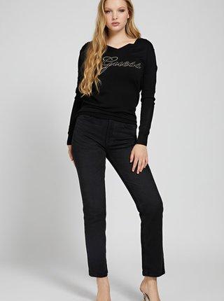 Čierny dámsky ľahký sveter Guess Doriane