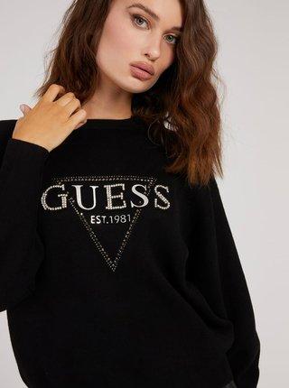 Čierny dámsky sveter s nápisom Guess Beatrice