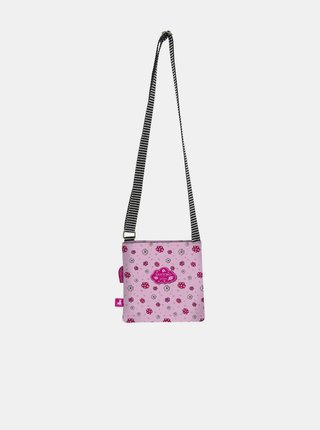 Růžová vzorovaná crossbody kabelka Santoro