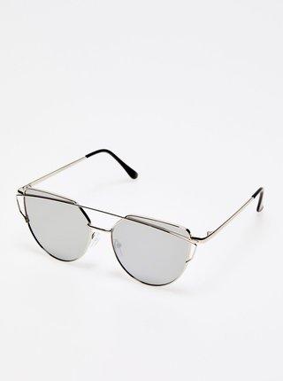 Dámské sluneční brýle ve stříbrné barvě Moodo