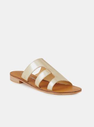Dámské kožené pantofle ve zlaté barvě EMU Australia Dion
