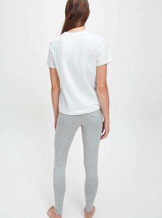 Tričká s krátkym rukávom pre ženy Calvin Klein - biela