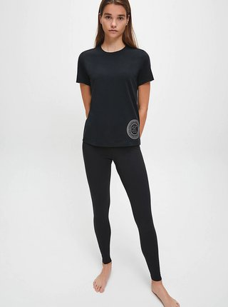 Čierne dámske tričko s potlačou Calvin Klein