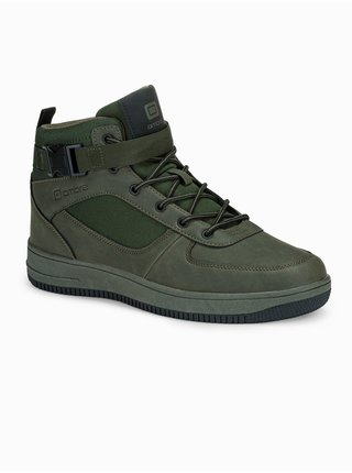 Pánské sneakers boty T317 - zelené