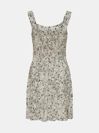 Krémové kvetované šaty Jacqueline de Yong Staar