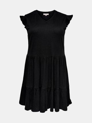 Čierne šaty ONLY CARMAKOMA April