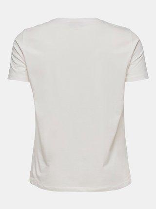 Bílé tričko s potiskem ONLY CARMAKOMA Ice
