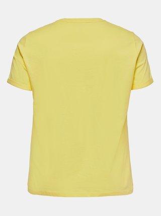 Žlté tričko s potlačou ONLY CARMAKOMA Mai