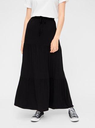 Černá maxi sukně Pieces Neora