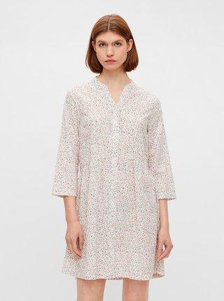Růžovo-bílé květované šaty Pieces Lindsey