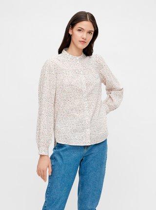 Ružovo-biela kvetovaná košeľa Pieces Lindsey