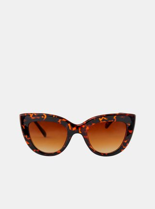 Hnědé vzorované sluneční brýle Pieces Lupi