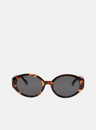 Čierno-hnedé vzorované slnečné okuliare Pieces Lupi