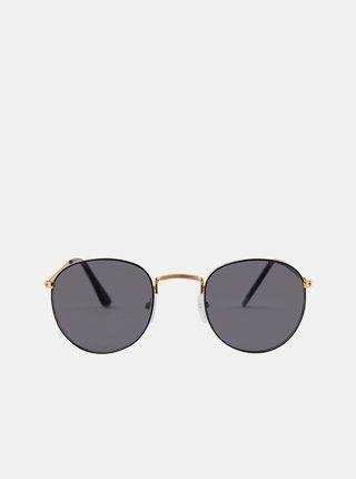Slnečné okuliare v zlatej farbe Pieces Lupi