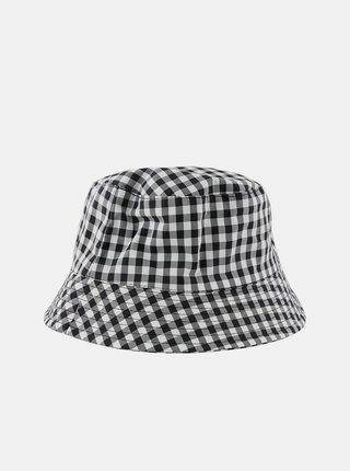 Bílo-černý kostkovaný klobouk Pieces Laya