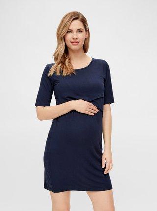 Tmavě modré těhotenské/kojicí šaty Mama.licious Alison