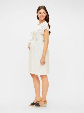 Biele pruhované tehotenské šaty Mama.licious Alison