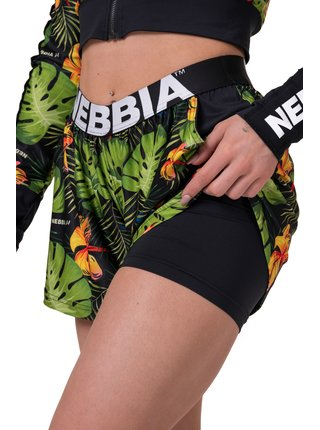 High-energy dámské double layer šortky Nebbia 563 Jungle green