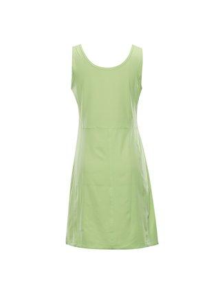 Dámské rychleschnoucí šaty ALPINE PRO ELANDA 4 zelená