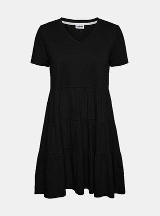 Černé volné šaty Noisy May Marble