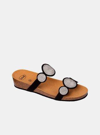 Černé dámské pantofle Scholl Sharon