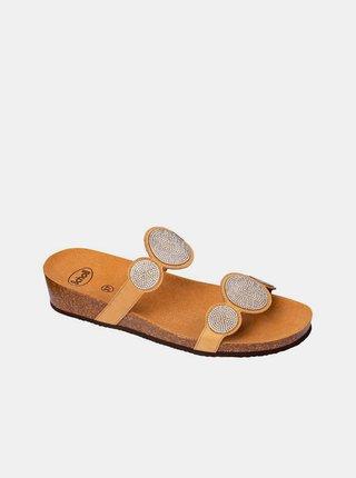 Béžové dámské pantofle Scholl Sharon