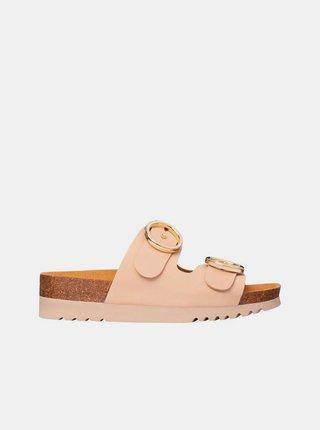 Béžové dámské pantofle Scholl Malibu
