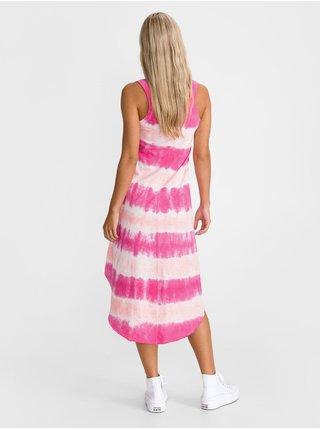 Růžové dámské šaty tank midi dress GAP
